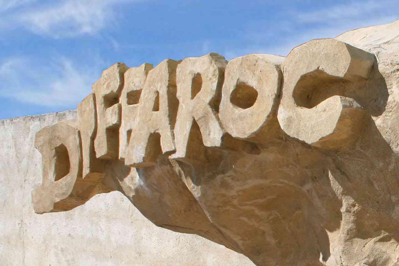Diffaroc rochers décoratifs écriture
