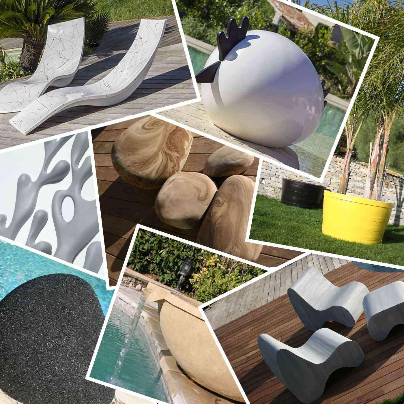 Objets design de décoration extérieure Diffaroc